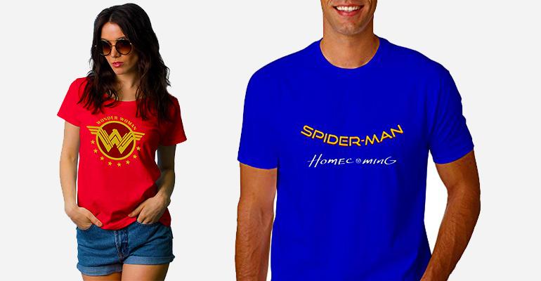 Win A Wonder Woman Or Spider-Man: Homecoming T-Shirt