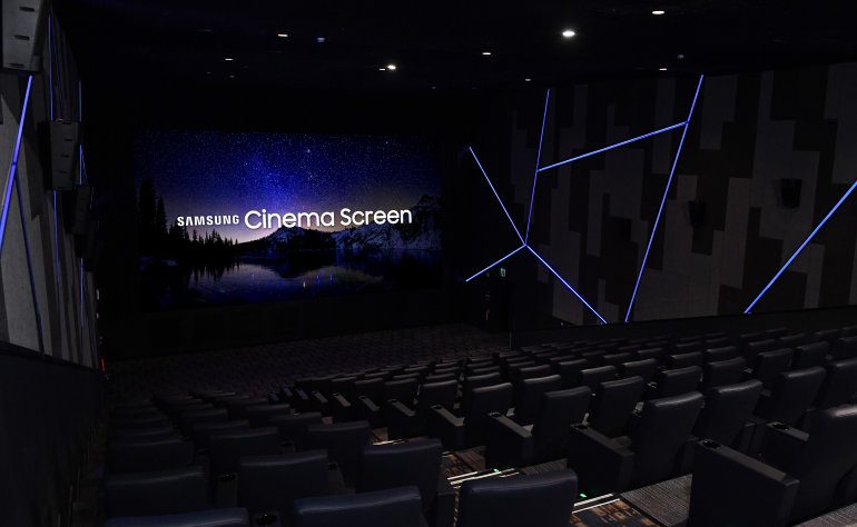 Samsung Aims to Do Away with Projectors with New 33-Foot Screen