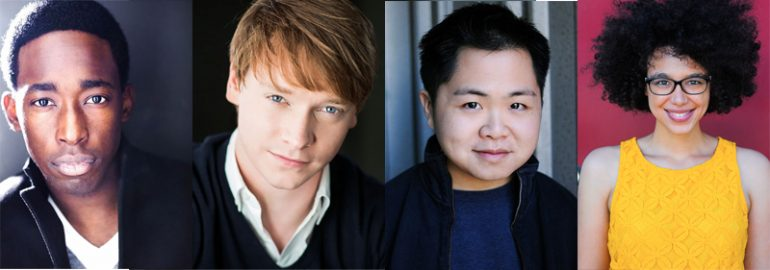 From Left to Right: Jeremy Tardy, Calum Worthy, Matthew Moy, and Kate Comer