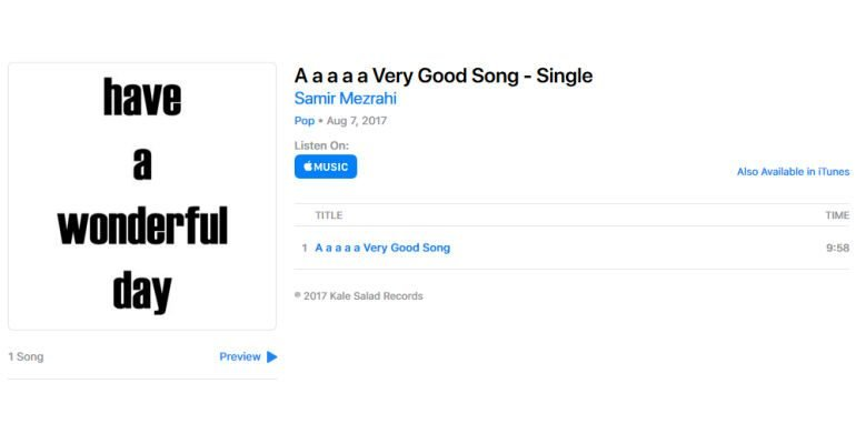 Silent 10-Minute Track Reaches Top 100 on iTunes to Solve Bug