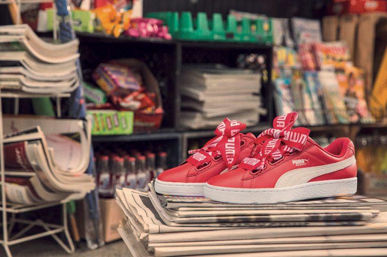 Puma And Cara Delevingne Drop New Basket Heart Sneaker