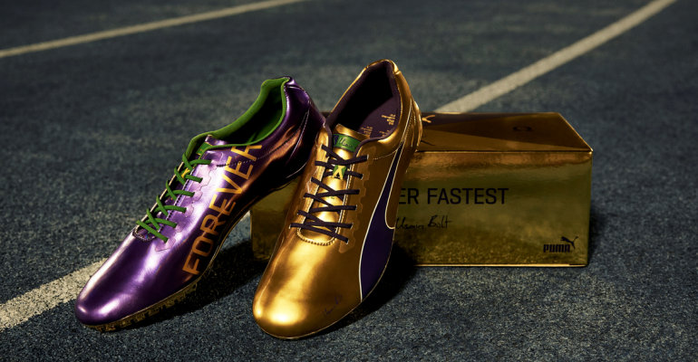bea70918f5d2 Puma Presents Usain Bolt s Legacy Spikes Ahead Of His Last Race