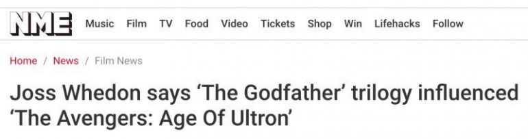 Marvel Seems To Think Their Films Are Like The Godfather