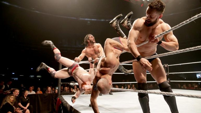 Balor and Rollins vs Cesaro and Sheamus