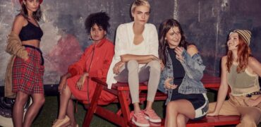 Cara Delevingne And PUMA Drop Pretty Pink Suede Bow Sneakers