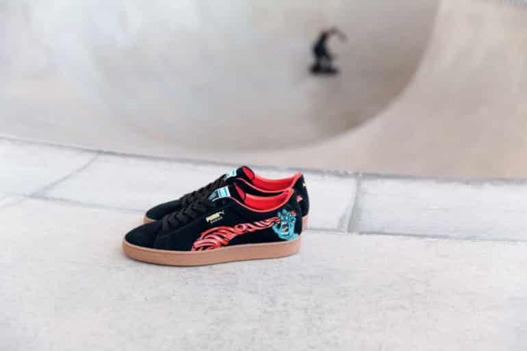 PUMA X SANTA Cruz Suede Classic+ Black & Gum Skate Shoes