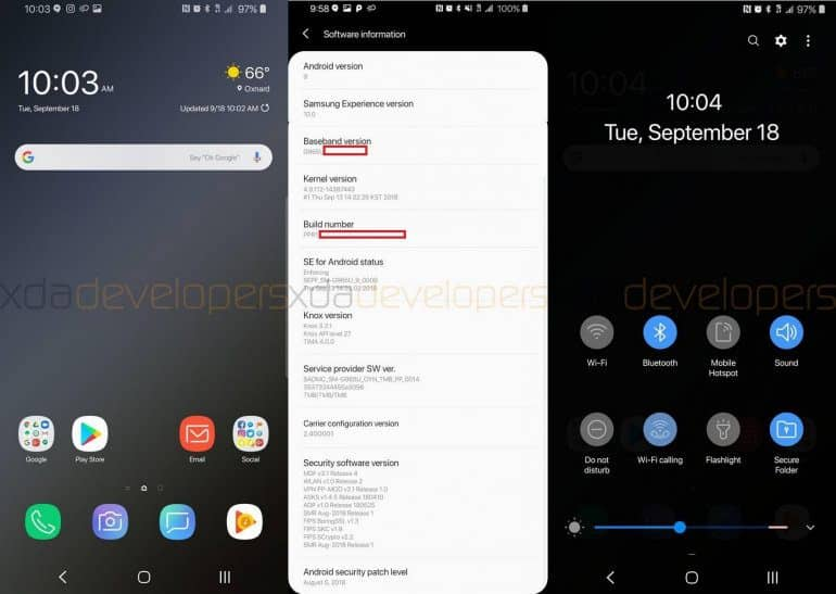 New Samsung Android Pie Interface Leaks - And It's Beautiful