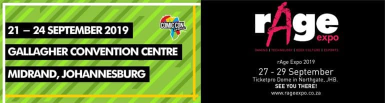 Comic Con Africa vs rAge 2019