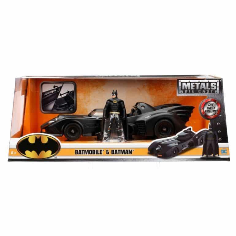 Die Cast Metals Batmobile & Batman