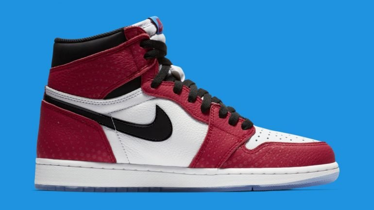 """Air Jordan 1 Retro High OG """"Origin Story"""" Sneakers Yes, You Can Own The Nike Spider-Man: Into The Spider-Verse Sneakers Sneakers"""