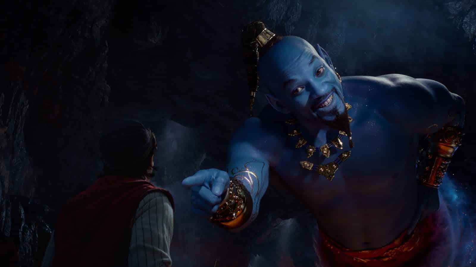 Aladdin Will Smith Blue Genie