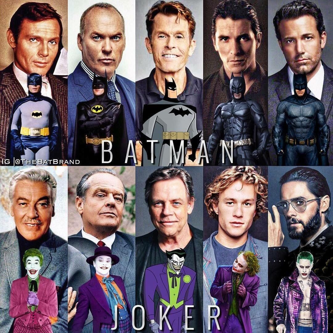 Batman and Joker Actors