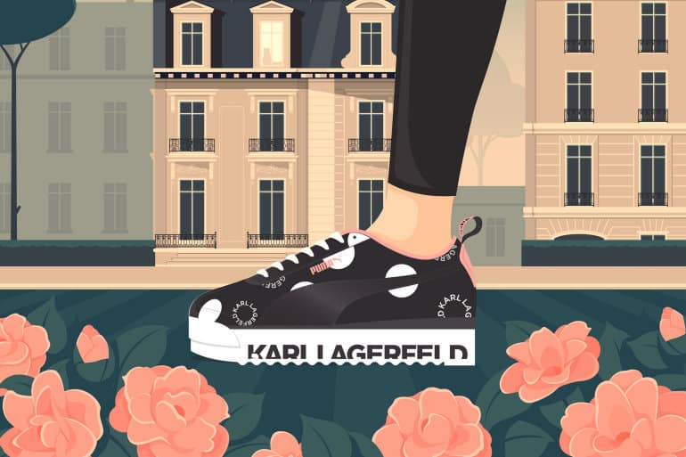 PUMA X Karl Lagerfeld Introduces Two Special-Edition Sneakers