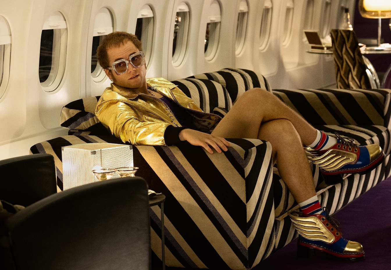 Taron Egerton takes flight as Elton John in 'ROCKETMAN' from Paramount Pictures