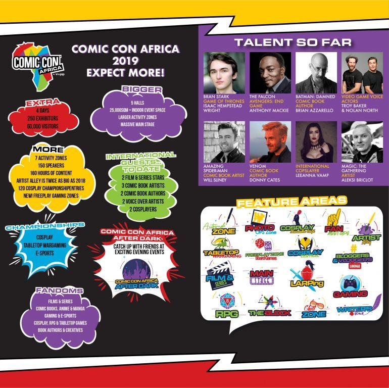 Comic Con Africa 2019 Infographic
