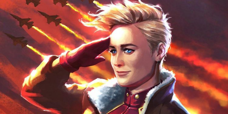 captain marvel movie art What Are Captain Marvel's Powers? Is She Marvel's Most Powerful Superhero? Comic Books