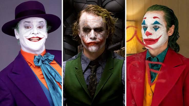 Joker Joaquin Phoenix Jack Nicholson Heath Ledger