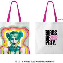 07 BOP White Tote with Pink Handles Win A Birds of Prey (And the Fantabulous Emancipation of One Harley Quinn) Hamper - CLOSED Competitions