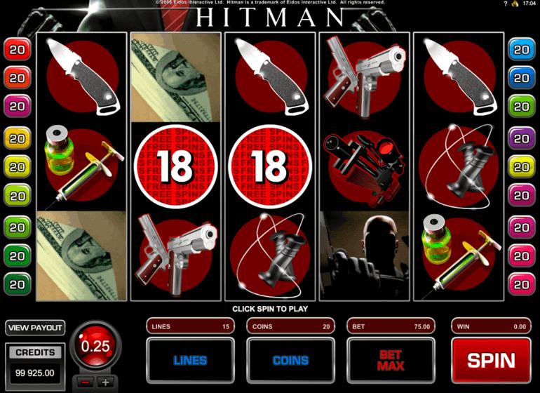 Hitman video slot game