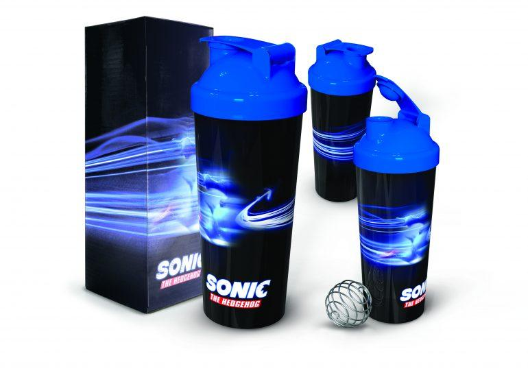 Sonic Movie Protein shaker Packaging Win A Sonic the Hedgehog Movie Hamper - CLOSED Competitions