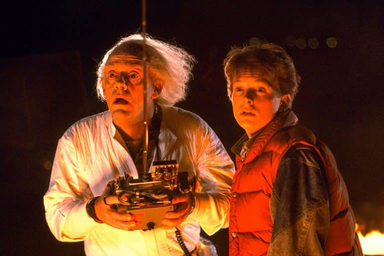 michael j fox christopher lloyd back to the future