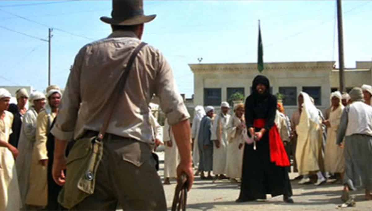 RaidersSword.png Was Indiana Jones That Good, or Was He Just Lucky? Movies