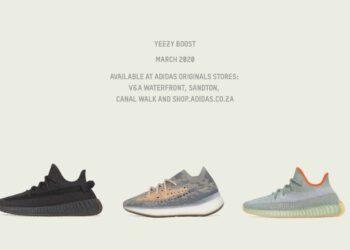 adidas Yeezy March Drops - 380 Mist, 35O V2 Cinder, 350 V2 Desert Sage