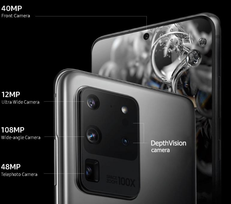 Camera configuration of Galaxy S20 Ultra Samsung Galaxy S20 Ultra Review – Big, Bold & Beautiful Tech