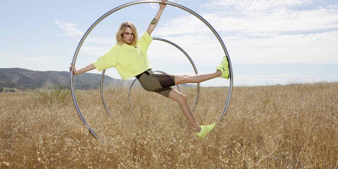 PUMA Cara D Rise Neon 1 lo PUMA South Africa Drops New PUMA Rise Neon Featuring Cara Delevingne Sneakers