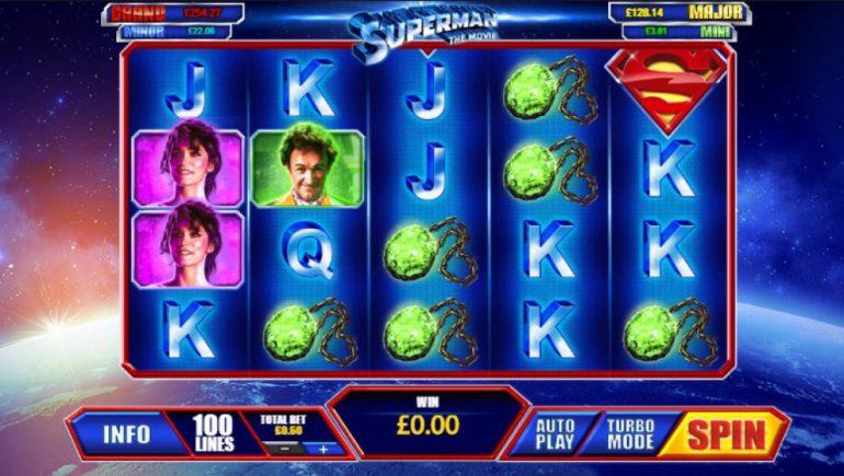 Superman The Movie Slot Games Machine