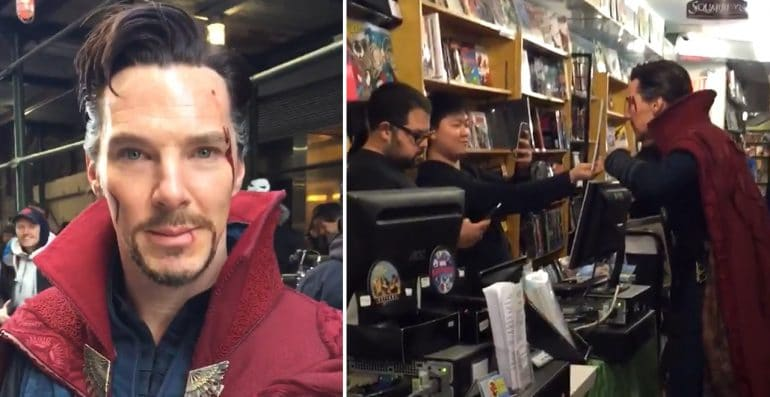 Benedict Cumberbatch Visited A Comic Book Store As Doctor Strange