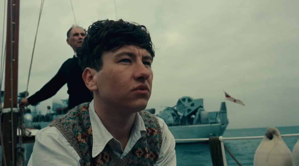 Barry Keoghan in Christopher Nolan's Dunkirk