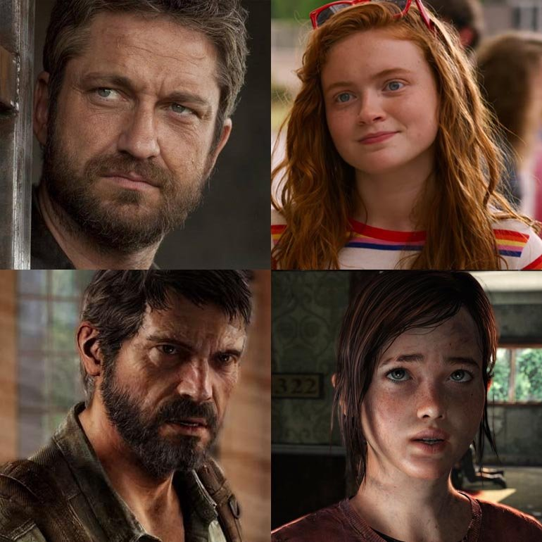 Gerard Butler and Sadie Sink The Last Of Us HBO TV Show