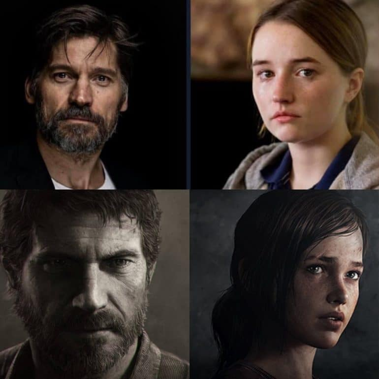 Nikolaj Coster-Waldau and Kaitlyn Denver The Last Of Us HBO TV Show
