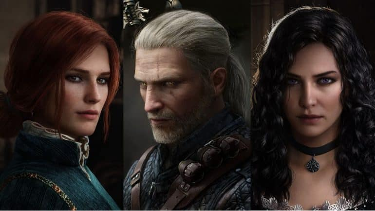 Gaming Couple Geralt Yennefer Triss