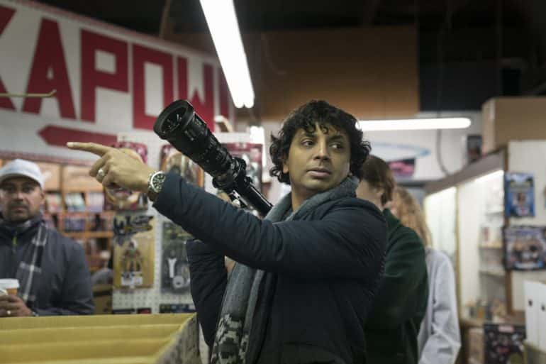 "Writer-director M. Night Shyamalan on the set of ""Glass,"" the third part of his trilogy that began with 2000's ""Unbreakable"" and continued with 2016's ""Split."""