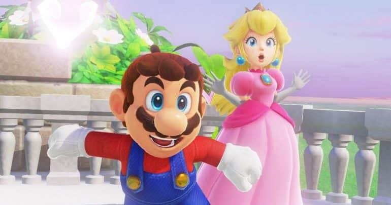 Gaming Couple Mario and Princess Peach