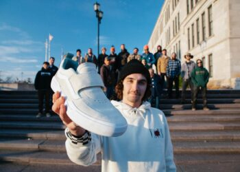 Kyle Walker shows the Vans Kyle Walker Pro 2 skate shoe