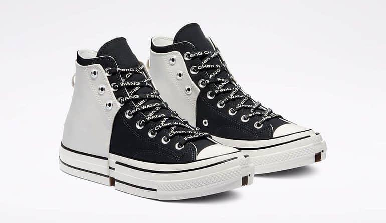 half black half white converse