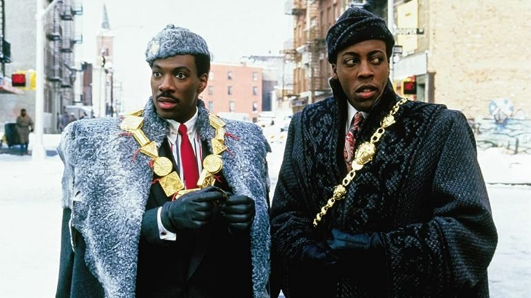 Coming To America starring Eddie Murphy and Arsenio Hall