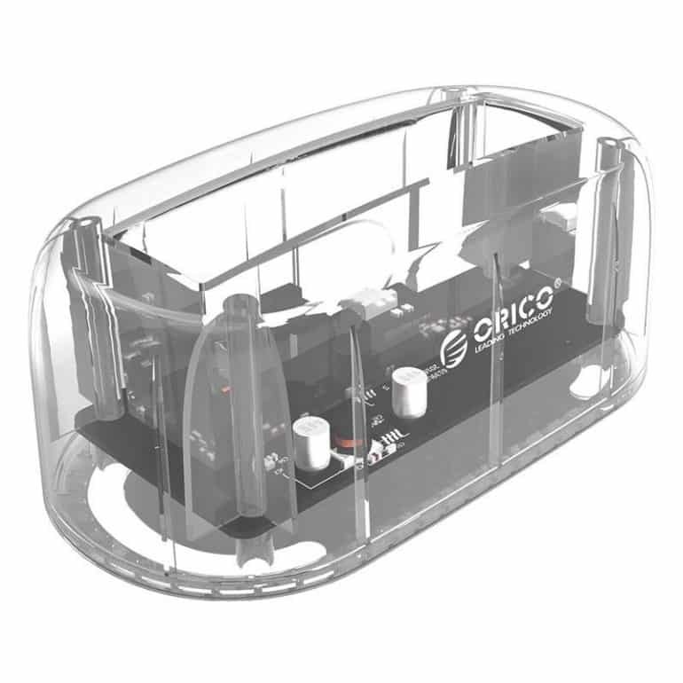 Orico HDD and SSD Transparent Docking Station – Ultra-Functional, Ultra-Portable