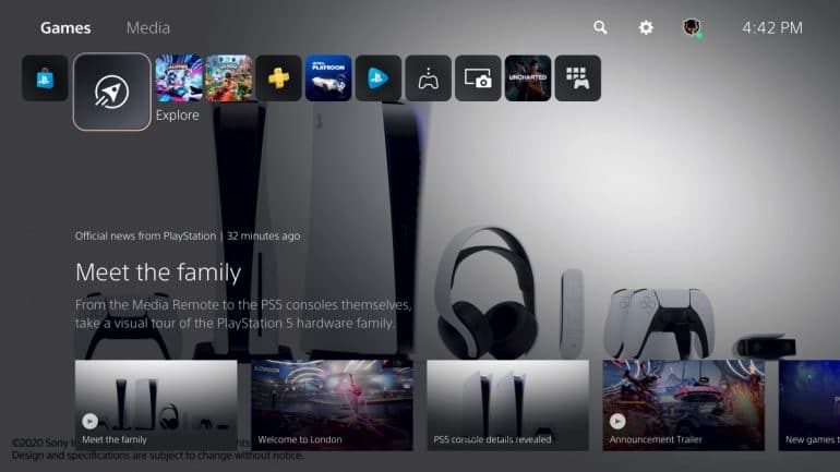 Sony's PlayStation 5 Media Space