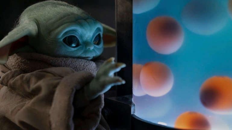 Baby Yoda eggs