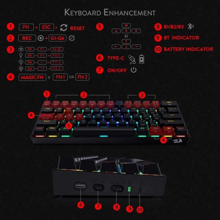 K530 Draconic 60% Keyboard