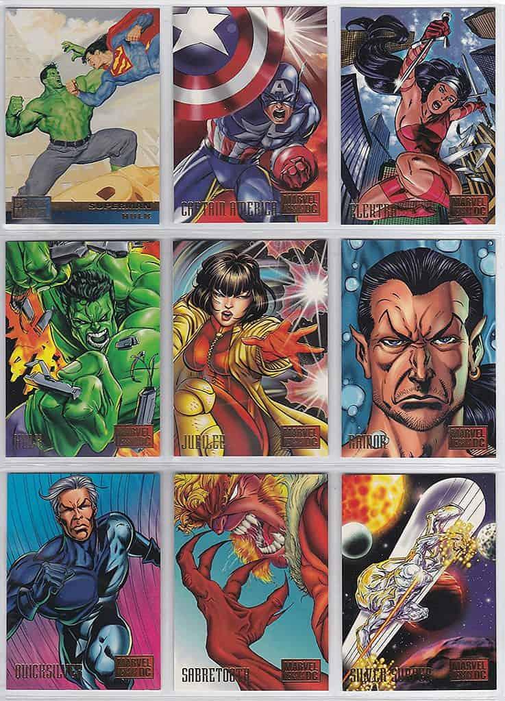 Marvel vs DC trading cards