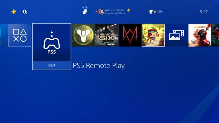 PlayStation 5 Remote Play