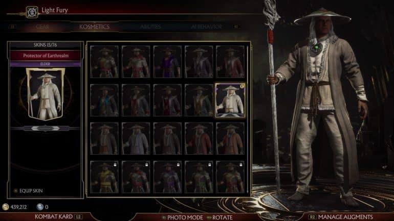 mortal kombat 11 skins raiden