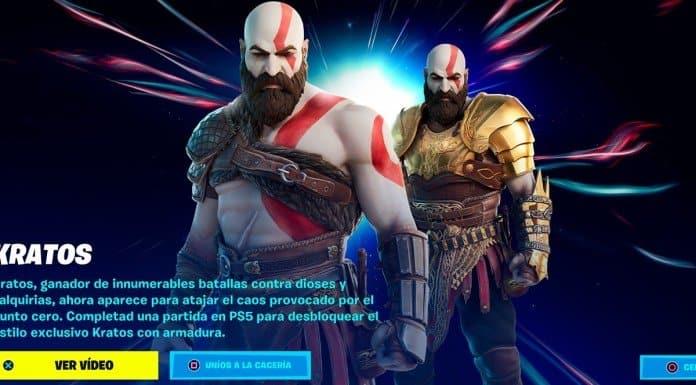Kratos Fortnite God of War