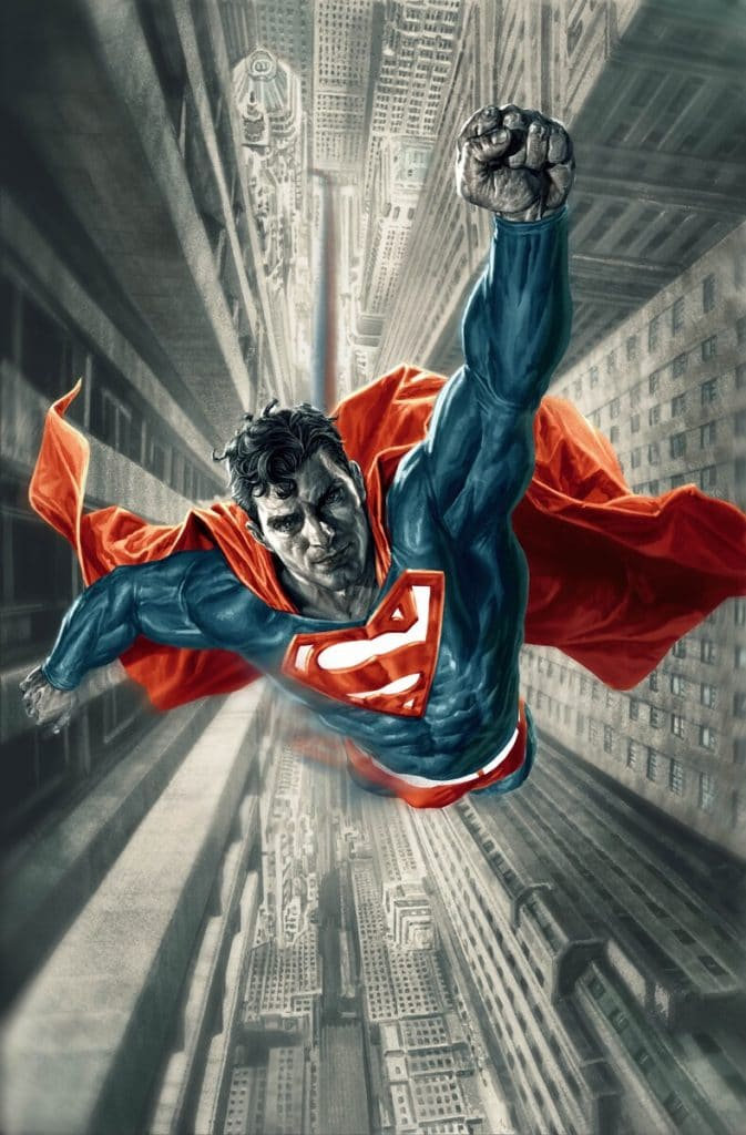 Superman: Red & Blue #1 variant by Lee Bermejo