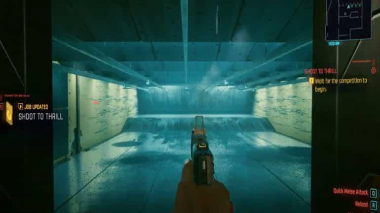 Cyberpunk 2077 shooting gallery
